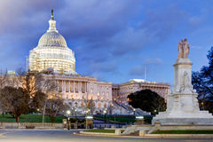 The U.S. Capitol Building with reduced scaffolding as a part of Stock Image