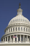 U.S. Capitol Dome and Flag Royalty Free Stock Photo