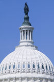 U.S. Capitol Dome and Statue of Freedom with Indian Headdress overlooks Washington D.C. Stock Photography