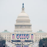 U.S. Capitol on Inauguration Day 2017. A view of the U.S. Capitol at the inauguration of Donald Trump royalty free stock photos