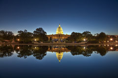 U.S. Capitol at night Royalty Free Stock Photo