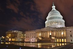 U.S. Capitol Night Time Royalty Free Stock Photos