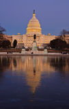 The U.S. Capitol at night. Washington DC Stock Photography