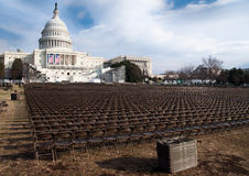 U.S. Capitol Before the Obama Inauguration Royalty Free Stock Photography
