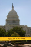U.S. Capitol POLICE LINE - DO NOT CROSS stock photography