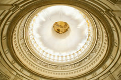 U.S. Capitol Rotunda ceiling in Washington D.C. with filter effe Royalty Free Stock Photo