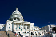 U.S. Capitol on a sunny day Royalty Free Stock Image
