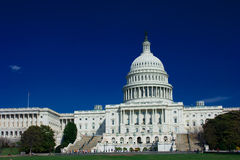 U.S. Capitol on a sunny day Stock Photography