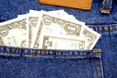 U.S. cash in pocket Royalty Free Stock Photos