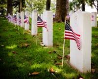 U.S. cemitério dos veteranos de guerra Fotos de Stock