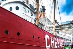 U S Chesapeake LV-116 di nave faro Fotografie Stock Libere da Diritti