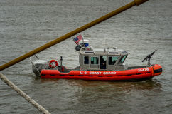 U.S. Coast Guard Boat on Mississippi River Stock Photos