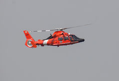 U.S. Coast Guard helicopter. U.S. Coastguard helicopter from Atlantic City, NJ on patrol over the Potomac in DC Royalty Free Stock Photo