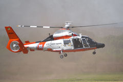 U.S. Coast Guard - HH-65 Dolphin. LOS ANGELES, CA. - JUNE 30:  - American Heroes Air Show on June 30, 2012 in Los Angeles CA at the Hansen Dam Sports Complex Stock Image