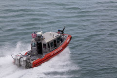 U.S. Coast Guard patrol boat Royalty Free Stock Image