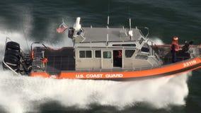 U.S. Coast Guard Patrol Boat. US Coast Guard Port Security Boat - High Definition Video - Editorial stock video footage