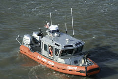 U.S. Coast Guard Patrols the Hudson River in New York City 2 royalty free stock photo