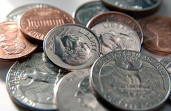 U.S. coin close-up Stock Image