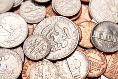 U.S. coins Royalty Free Stock Photo