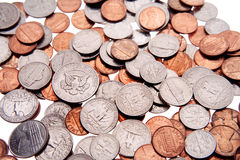 U.S. coins of different value Stock Images
