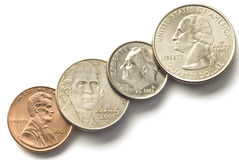 U. S. Coins Royalty Free Stock Photos