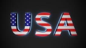 U.S.A. con la bandiera americana Immagine Stock Libera da Diritti