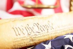 U.S. Concepto de la constitución Foto de archivo libre de regalías