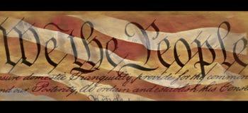 U.S. Constituição Fotografia de Stock Royalty Free