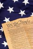 U.S. Constituição e estrelas - vertical Foto de Stock Royalty Free