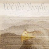 U.S. Constitution with bald eagle Royalty Free Stock Photo