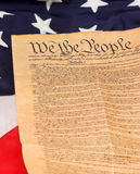 U.S. Constitution on Flag. United States Constitution on flag background Royalty Free Stock Photography