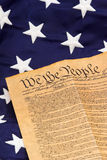 U.S. Constitution and Stars - vertical Royalty Free Stock Photo