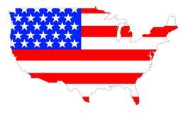U.S.A. continentale Immagini Stock Libere da Diritti
