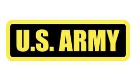 U S Crachá do EXÉRCITO Vetor eps10 do ícone do crachá do exército dos EUA Quadro indicador militar vitória U S força ilustração royalty free