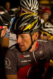 U S cyclist Lance Armstrong. With fellow cyclists at the early pre-dawn start of the Cape Argus Cycle race 2010 Cape Town Stock Images
