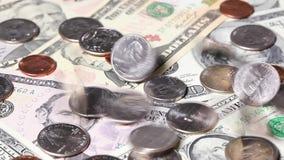 U S Dólares da queda video estoque