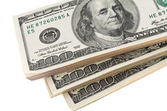 U.S. dólares das notas de banco Fotos de Stock