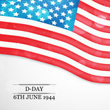 U.S.A D-Day background Royalty Free Stock Image