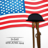 U.S.A D-Day background Stock Photography