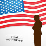 U.S.A D-Day background Stock Photos