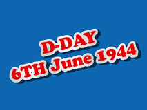 U.S.A D-Day background Royalty Free Stock Photography