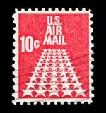 U S de cent van Luchtpost 10 Stock Afbeeldingen