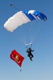 U S De Luchtmachtlucht toont Skydivers Stock Afbeelding