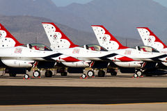 U S De Luchtmachtlucht toont Thunderbirds Stock Foto