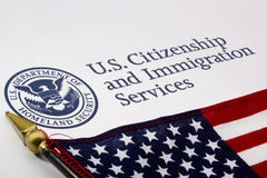 U.S. Departamento de insignia de la seguridad de patria Imágenes de archivo libres de regalías