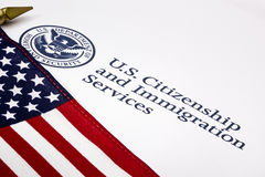 U.S. Department of Homeland Security Logo Stock Photo