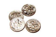 U.S. dimes Stock Photo