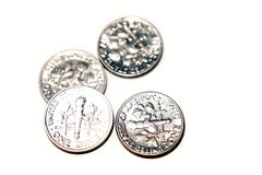 U.S. dimes Royalty Free Stock Image