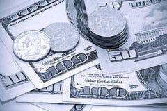 U.S. dinero en circulación Fotografía de archivo
