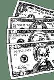 U.S. Dinero en circulación Imagen de archivo libre de regalías